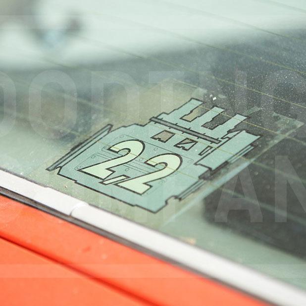 PORSCHE ENGINE REAR WINDOW STICKER 2.7