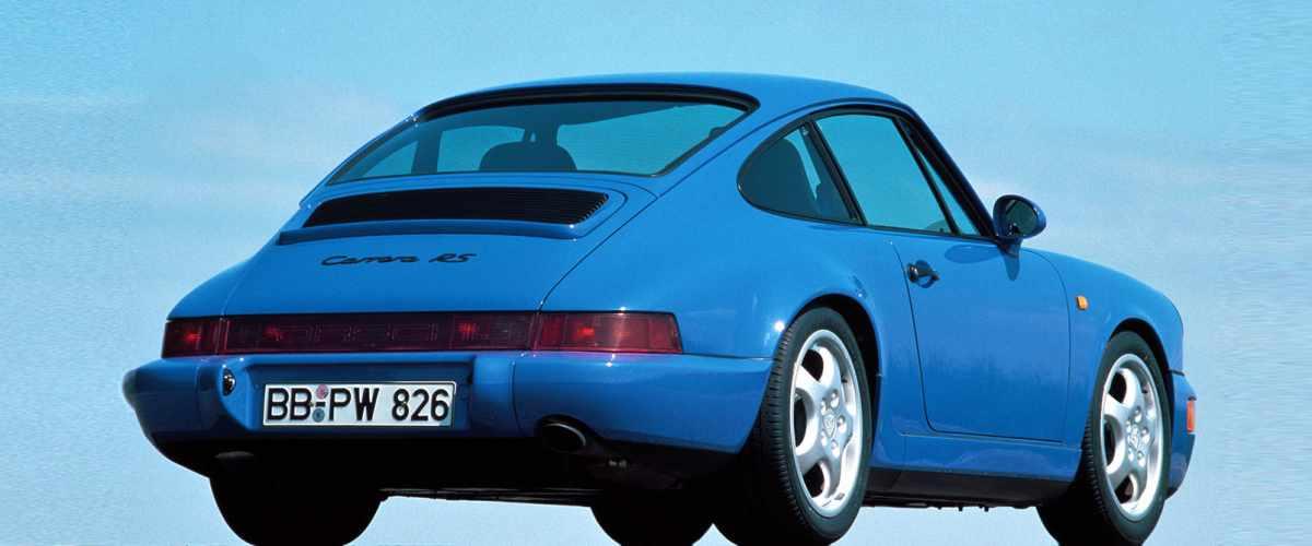 Blue 1992 Porsche 911 RS