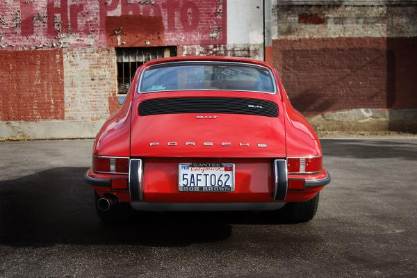 1972 Porsche 911 T seen from behind