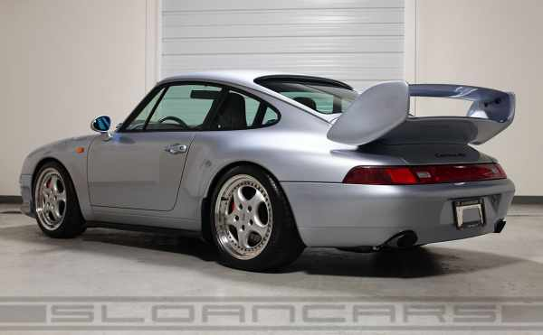 1995 911 Carrera RS with optional spoilers seen from behind