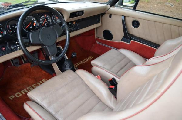 1980 Porsche 911 Weissach Edition interior, seen from the drivers door