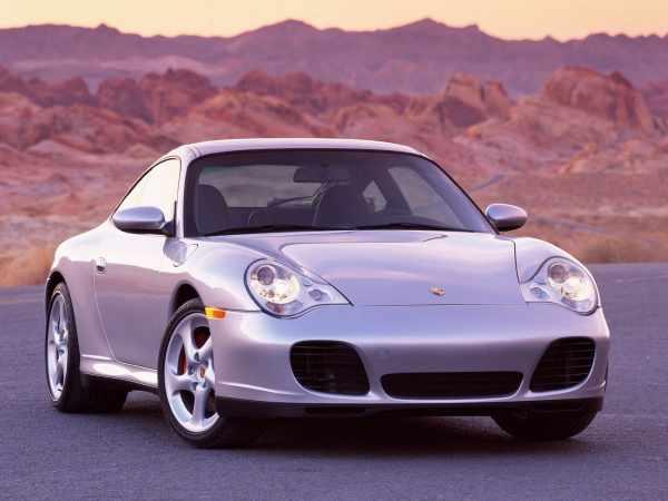 2002 Porsche 911 showing it's updated headlights