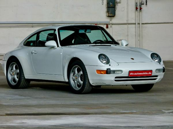 White 1995 911 Carrera 2, seen from the front